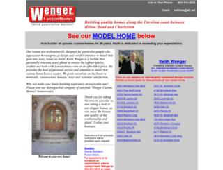 wengercustomhomes.com screenshot