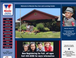 wenzlerdaycare.com screenshot