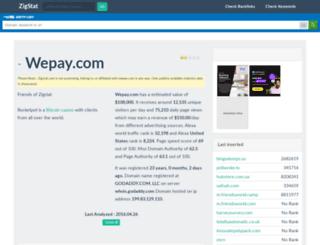 wepay.com.zigstat.com screenshot