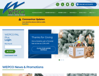 wepcofcu.com screenshot