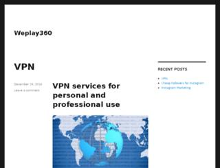weplay360.com screenshot