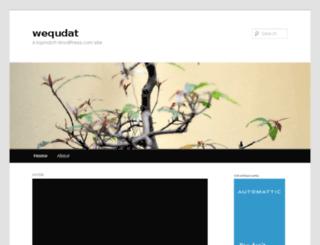 wequdat.wordpress.com screenshot