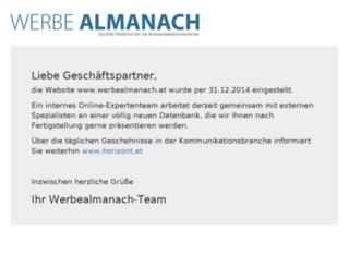 werbealmanach.at screenshot
