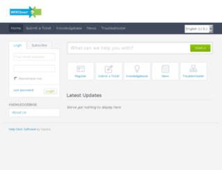 wercsmart.kayako.com screenshot