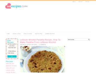 werecipes.com screenshot