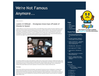 werenotfamousanymore.blogspot.com screenshot