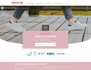 werkenbijachmea.nl screenshot