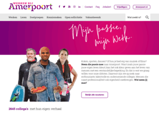 werkenbijamerpoort.nl screenshot