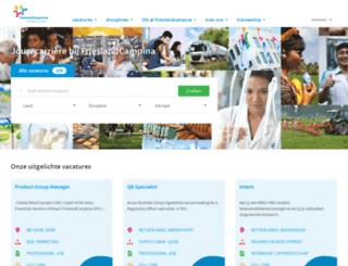 werkenbijfrieslandcampina.nl screenshot