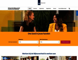 werkenbijhetrijk.nl screenshot