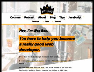 wesbos.com screenshot