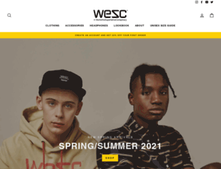 wesc.com screenshot