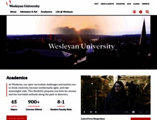 wesleyan.edu screenshot