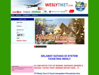 weslytiket.com screenshot