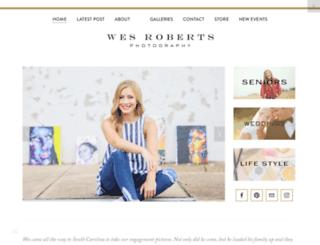 wesrobertsphotography.com screenshot