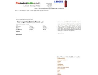 west-bengal.pincodesindia.co.in screenshot