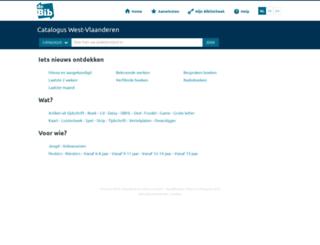 west-vlaanderen.bibliotheek.be screenshot