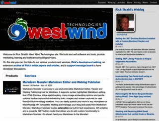 west-wind.com screenshot