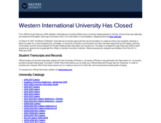 west.edu screenshot