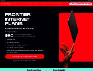 west.frontier.com screenshot