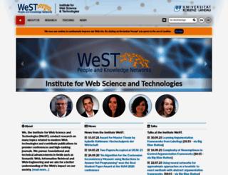 west.uni-koblenz.de screenshot