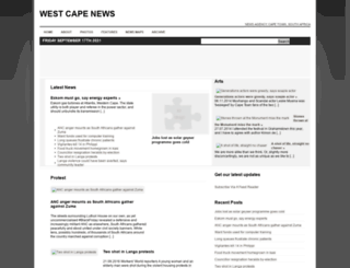 westcapenews.com screenshot