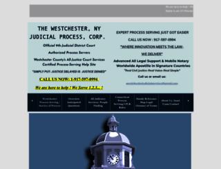 westchesterjudicialprocess.com screenshot