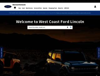westcoastfordlincoln.com screenshot