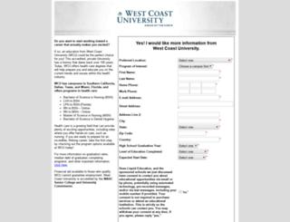westcoastu.search4careercolleges.com screenshot