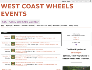 westcoastwheelsevents.com screenshot
