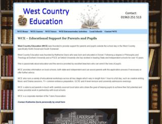 westcountryeducation.co.uk screenshot