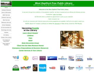 westdeptford.lib.nj.us screenshot