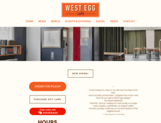 westeggcafe.com screenshot