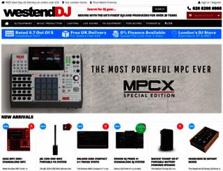 westenddj.co.uk screenshot