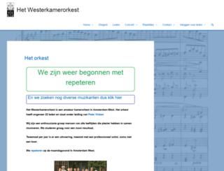 westerkamerorkest.nl screenshot