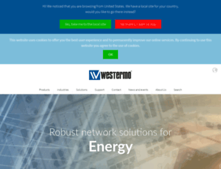 westermo.co.uk screenshot