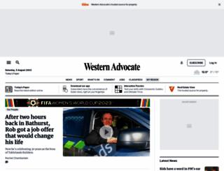 westernadvocate.com.au screenshot