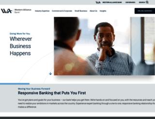 westernalliancebank.com screenshot