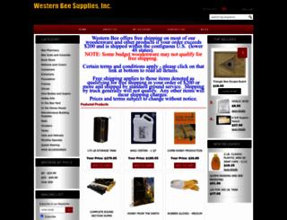 westernbeestore.3dcartstores.com screenshot