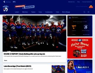 westernbulldogs.com.au screenshot