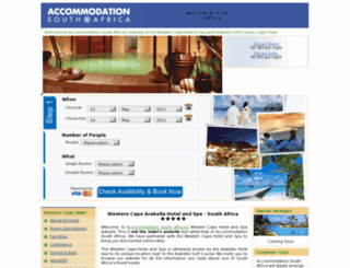 westerncapespa.accommodationsouthafrica.co.za screenshot