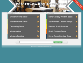 westerncowboydecor.com screenshot
