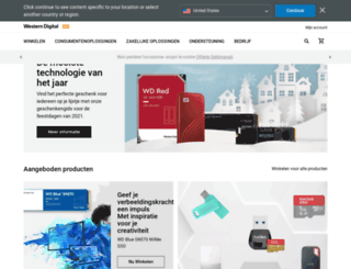 westerndigital.nl screenshot