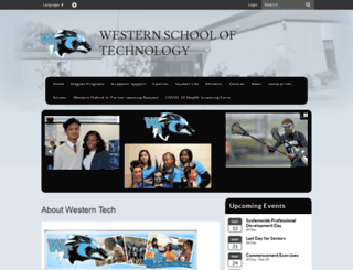 westernhs.bcps.org screenshot