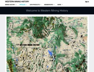 westernmininghistory.com screenshot