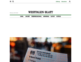 westfalen-blatt.de screenshot