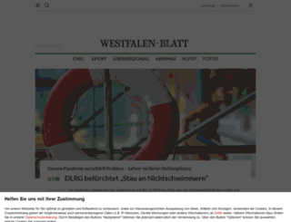 westfalenblatt.de screenshot