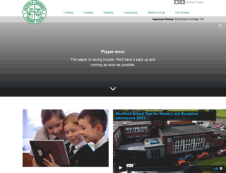 westfield.staffs.sch.uk screenshot