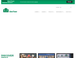 westfraser.com screenshot