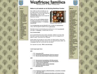 westfriesefamilies.nl screenshot